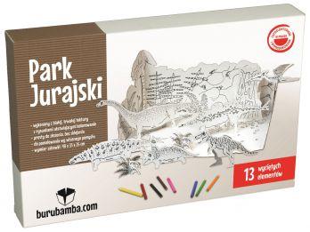 Park Jurajski Dinozaury - zabawka z tektury do składania - Burubamba