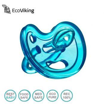 Smoczek Uspokajający Anatomiczny SiliMed Blue Eco Viking 0m+