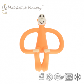 Gryzak Masujący ze Szczoteczką Pomarańczowy Matchstick Monkey