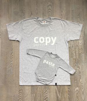 Zestaw Koszulka dla Taty i body dla dziecka z nadrukiem COPY PASTE rozmiar XL
