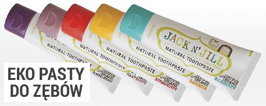 Ekologiczne, naturalne pasty do zębów dla dzieci